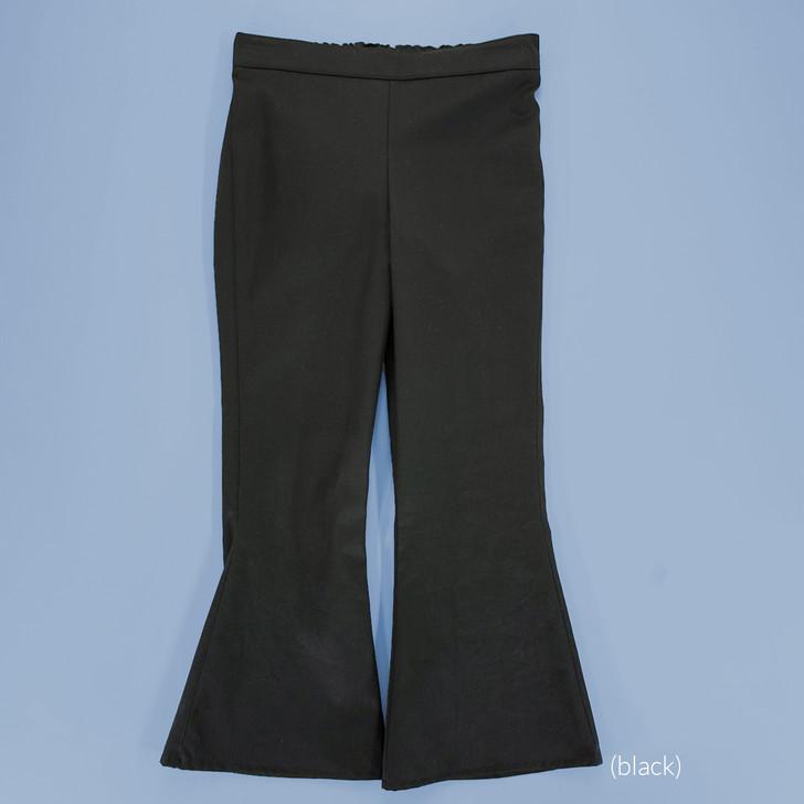 Uniform - Pants - Flared - Adjustable Waist in Black