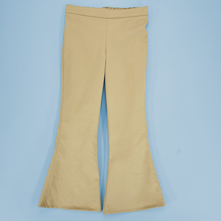 Uniform - Pants - Flared - Adjustable Waist in Khaki