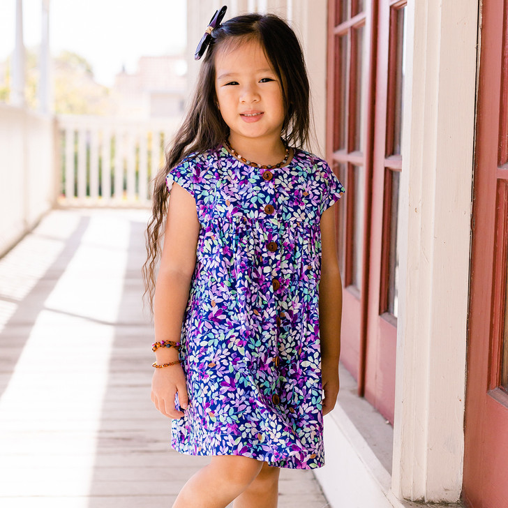 Mila Shirt Dress in Jacqueline Violet