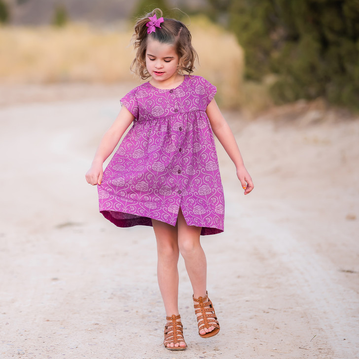 Mila Shirt Dress in Purple Baroque