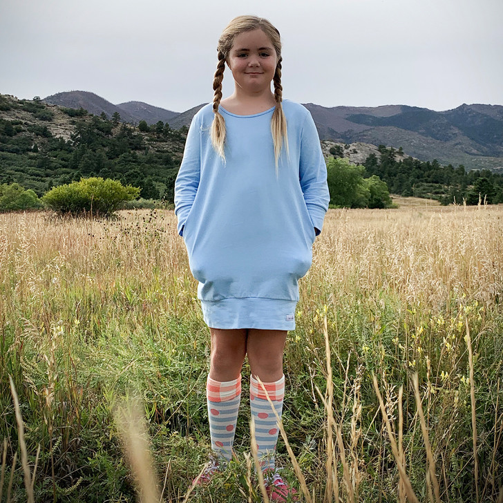 Tunic Sweater in Carolina Blue