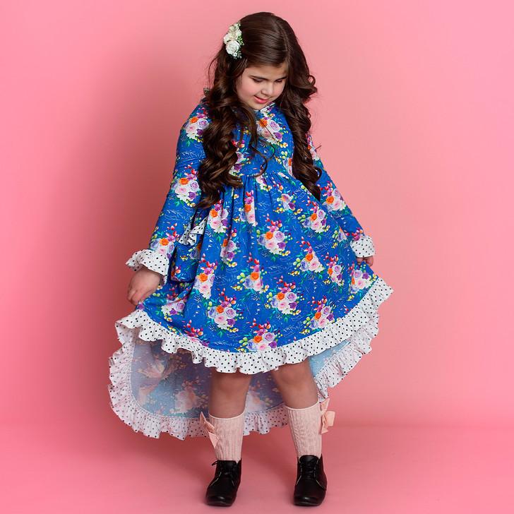 Petra Dress in Blue Sherbet Floral