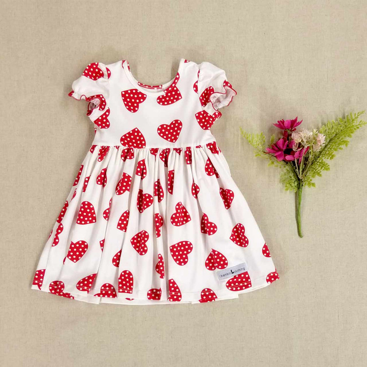 Alberta Dress in Dotted Hearts