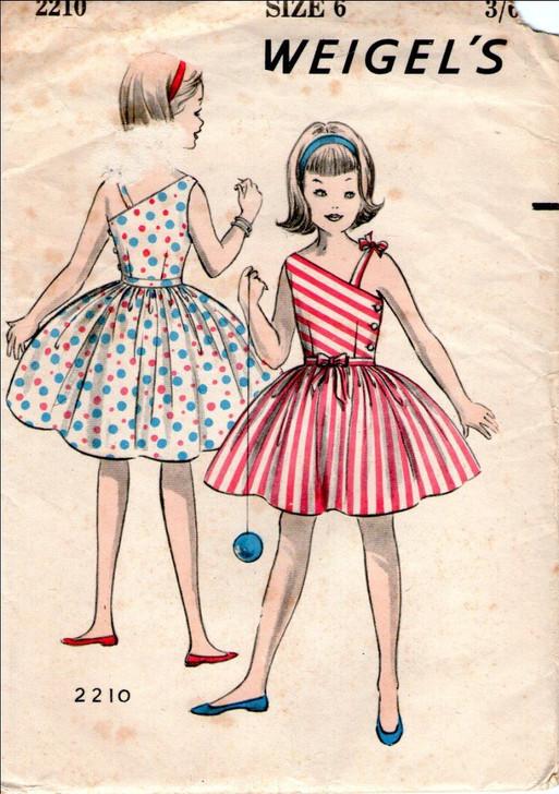Weigels 2210 Girls' 1960's Inspired Sun dress in Hello Sunshine