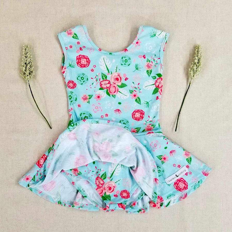 Short Sleeve Leotard + Skirt - PRINTS