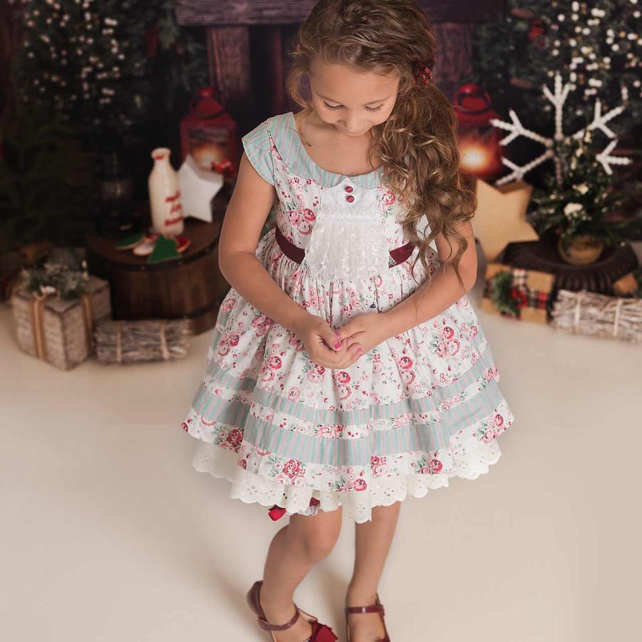Noel Set: Dress + Pantaloons in Red Floral