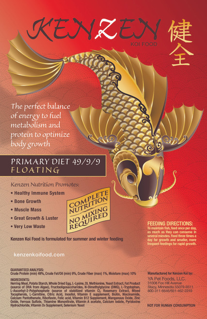 Kenzen Koi Food Primary Diet Floating
