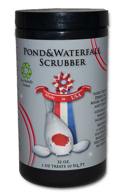 Koi pond and waterfall scrubber cleaner