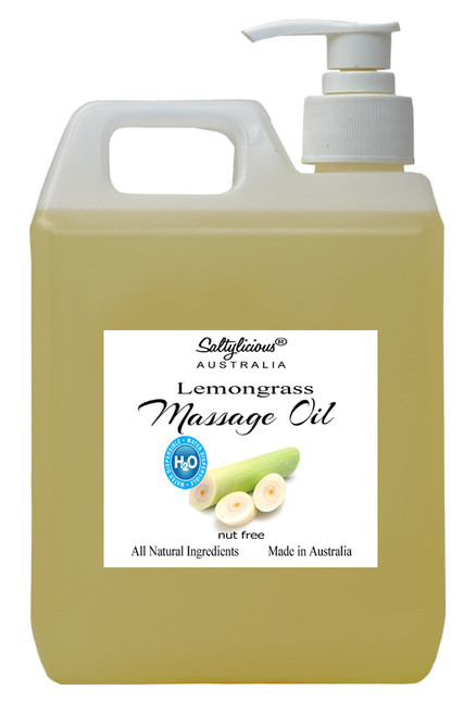 H2O Dispersible Massage Oil  with Lemongrass