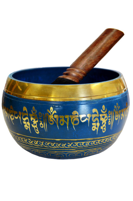 Tibetan Singing Bowl Blue 14cm