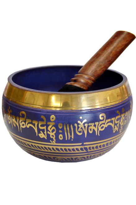 Tibetan Singing Bowl Purple 14cm