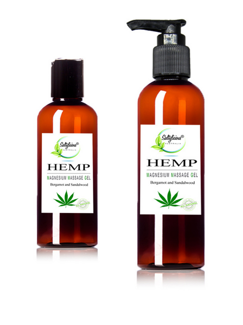Bergamot & Sandalwood With Hemp Magnesium Massage Gel