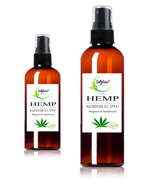 Magnesium Oil Spray With Organic Hemp Seed Oil with Bergamot & Sandalwood