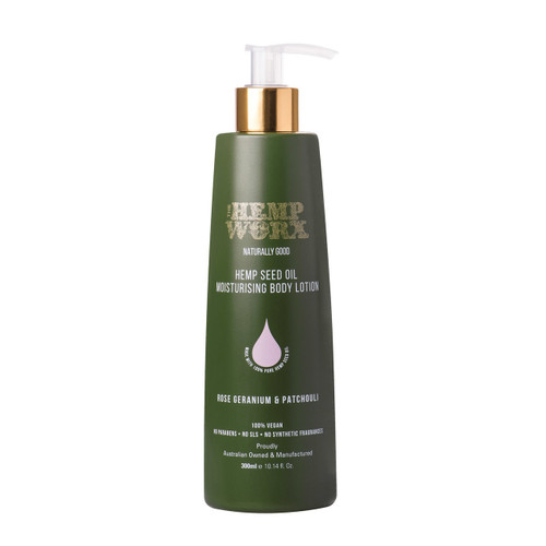 The Hemp Worx Body Lotion – Rose Geranium & Patchouli