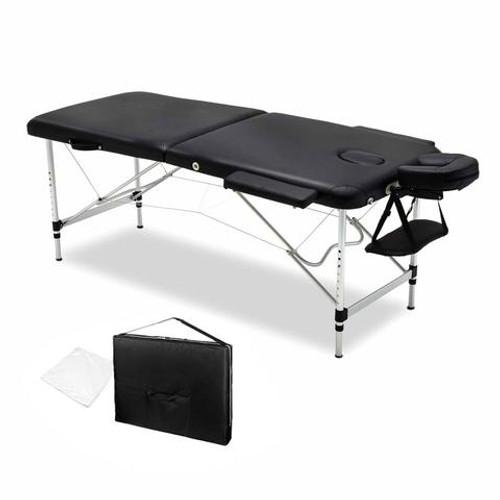 75cm Professional Aluminum Portable Massage Table - Black