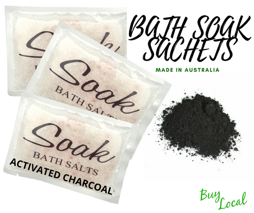 Bath Soak Sachet with Activated Charcoal
