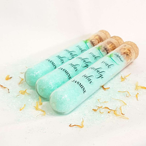 Epsom Bath Salts with Jasmine Test Tube Set