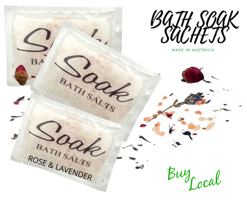 Bath Soak Sachet Rose & Lavender