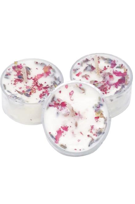 Rose Geranium & Lavender Soy Tealight