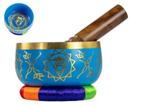 Light Blue Tibetan Singing Bowl 13cm