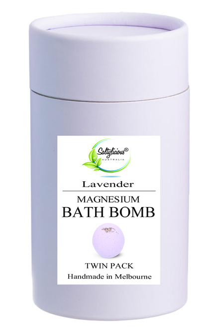 Lavender Magnesium Bath Bomb Twin Gift Pack