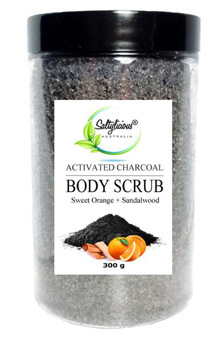 Activated Charcoal Body Scrub with Sweet Orange & Sandalwood