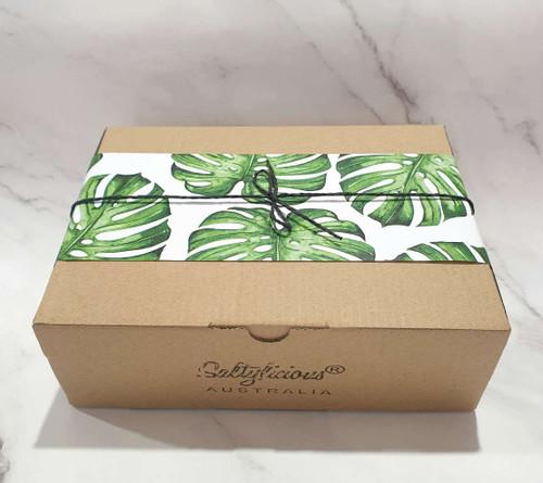 Green Leaf Brown Gift Box