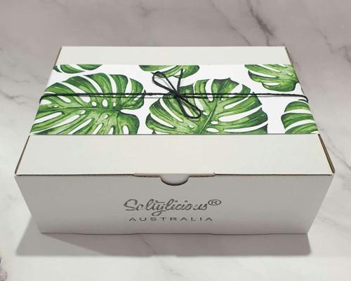 Green Leaf White Gift Box