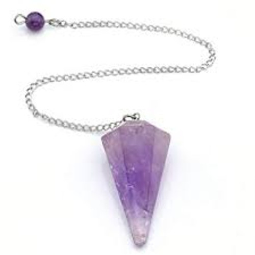 Amethyst Faceted Pendulum