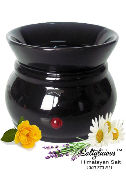 Aromatherapy Soy Wax Burner Black
