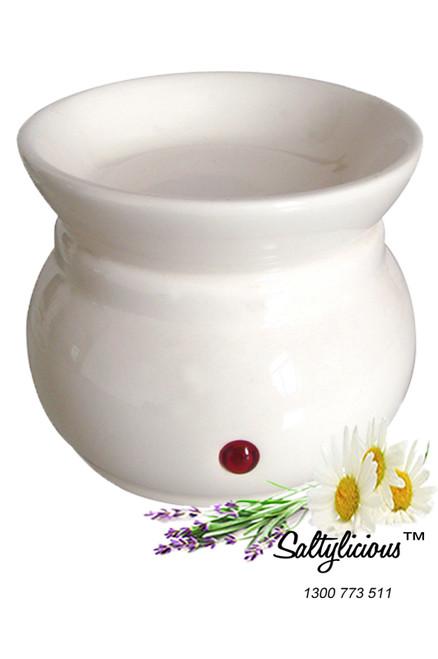 Aromatherapy Soy Wax Burner White