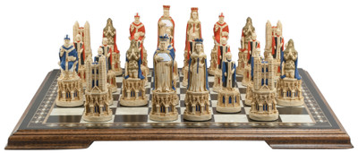 """Medieval Cathedral Hand Decorated 5.25"""""""