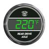 Truck Rear Axle Temperature TelTek Gauge - Green