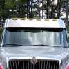 """International 4000 Series Sunvisor 12.5"""" Drop With LED Lights - Front View"""