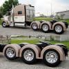 Semi Truck Fiberglass Super Single Single Axle Fender Set Painted Tan