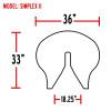 Simplex Fifth Wheel Slick Plate Simplex II
