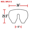 Simplex Fifth Wheel Slick Plate Simplex SE