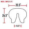Simplex Fifth Wheel Slick Plate Simplex Lite