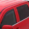 Toyota Tundra Crewmax AVS Smoke In-Channel Ventvisor 4 Piece On Truck Close Up