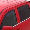 Dodge Dakota Quad Cab AVS Smoke In-Channel Ventvisor 4 Piece On Truck Close Up