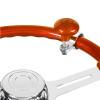 Universal Classic Orange Steering Wheel Spinner Mounted