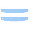 Stainless Steel Mud Flap Top Plate Accent - Curved