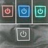 Trux USB Heated Light Weight Vest Buttons High Medium Low Off