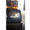Freightliner Classic Chrome Projector Headlights With LED Amber Turn Signal & White Daylight Running Light - Low Beam On