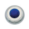 Chrome Tractor Trailer Air Brake Knob With Colored Diamond - Blue