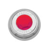 Chrome Tractor Trailer Air Brake Knob With Colored Diamond - Red