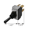 Peterbilt DPST Toggle Switch 1604830 - Dimensions