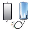 """Peterbilt 389 """"West Coast"""" Heated Stainless Steel Mirror Assembly (Front & Back)"""