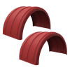 Minimizer Poly Truck Fenders Red Color 2480 Series
