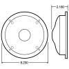 "Model 80 Bulb Replaceable 7"" Dome Lamp Chrome Diagram"